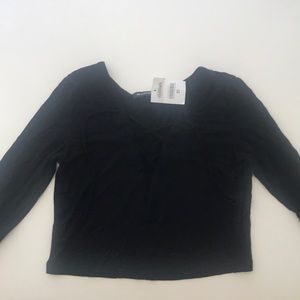 Black Brandy Melville cross long sleeve